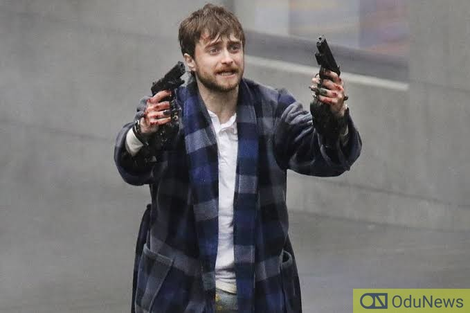 Daniel Radcliffe as the protagonist in GUNS AKIMBO