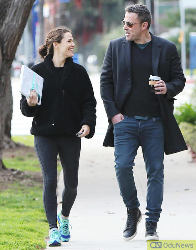 Affleck with ex-wife Jennifer Garner when all was well between them