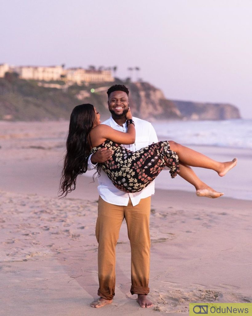 Davido's Brother & New Bride Get Cozy In Honeymoon Photos
