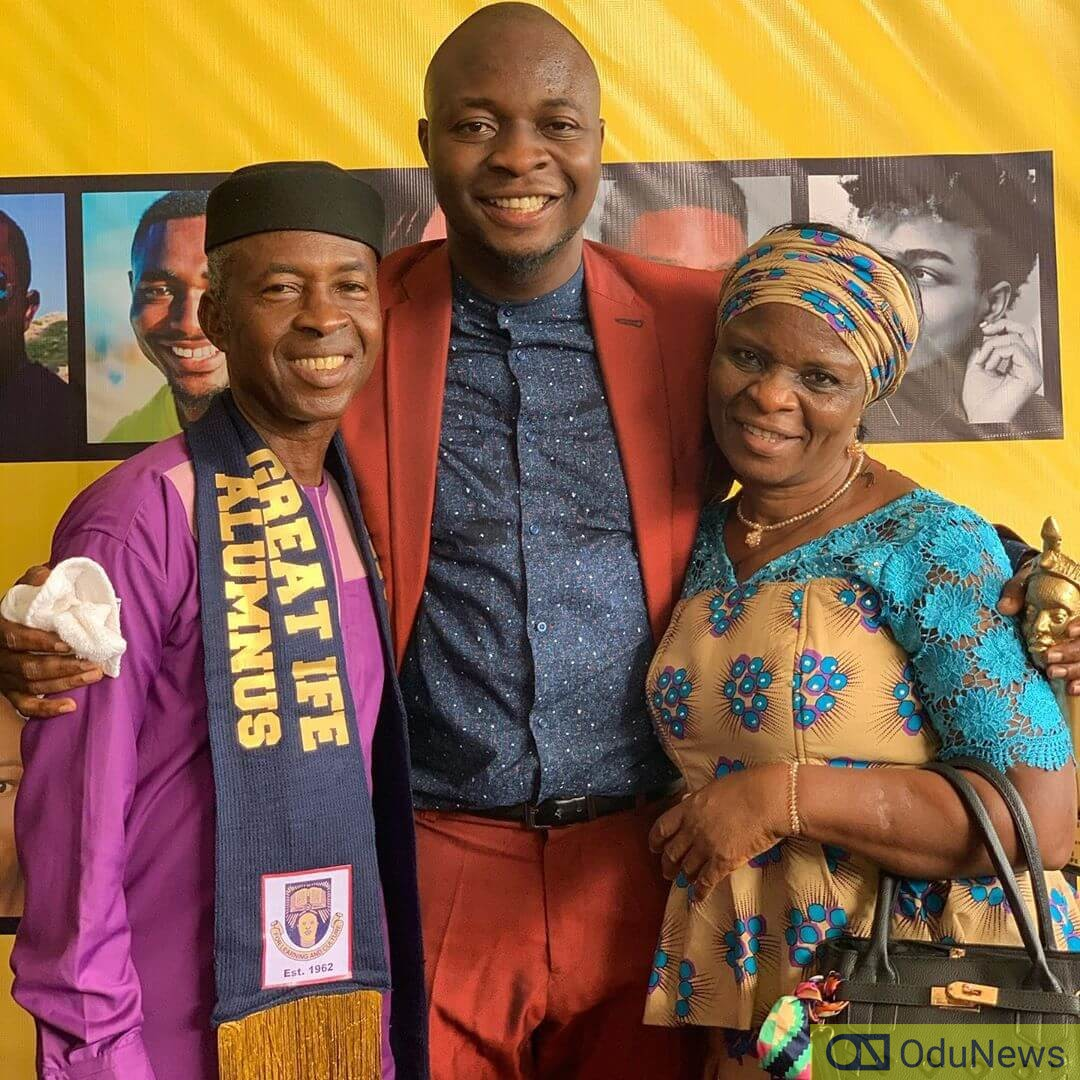 MC Lively and his parents Mr. and Mrs. Sani