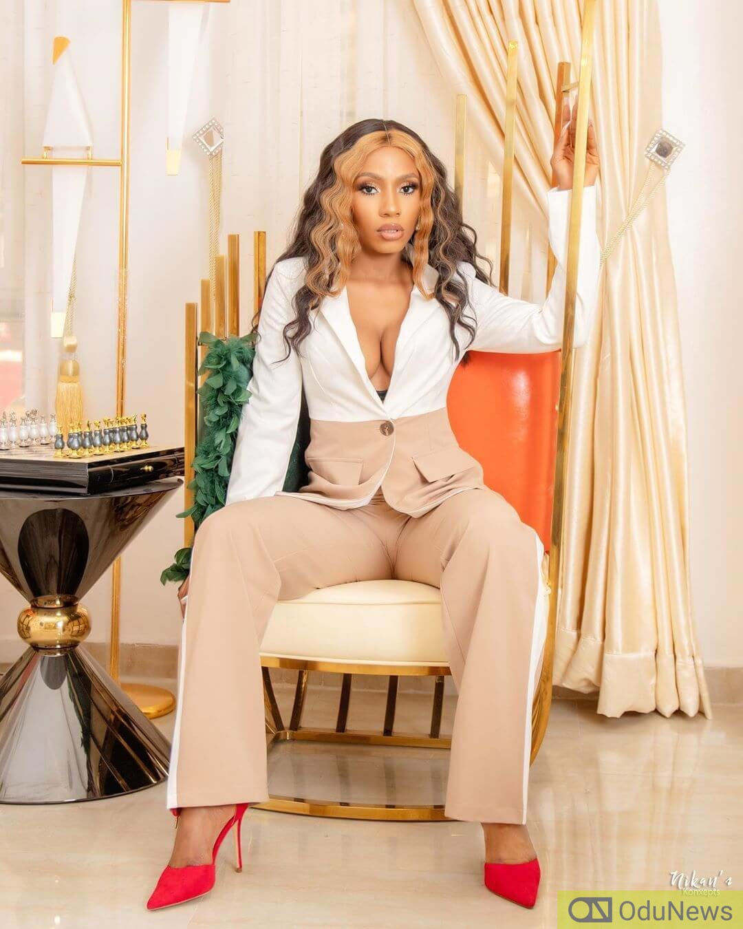 Mercy Eke is a sight for sore eyes in the video