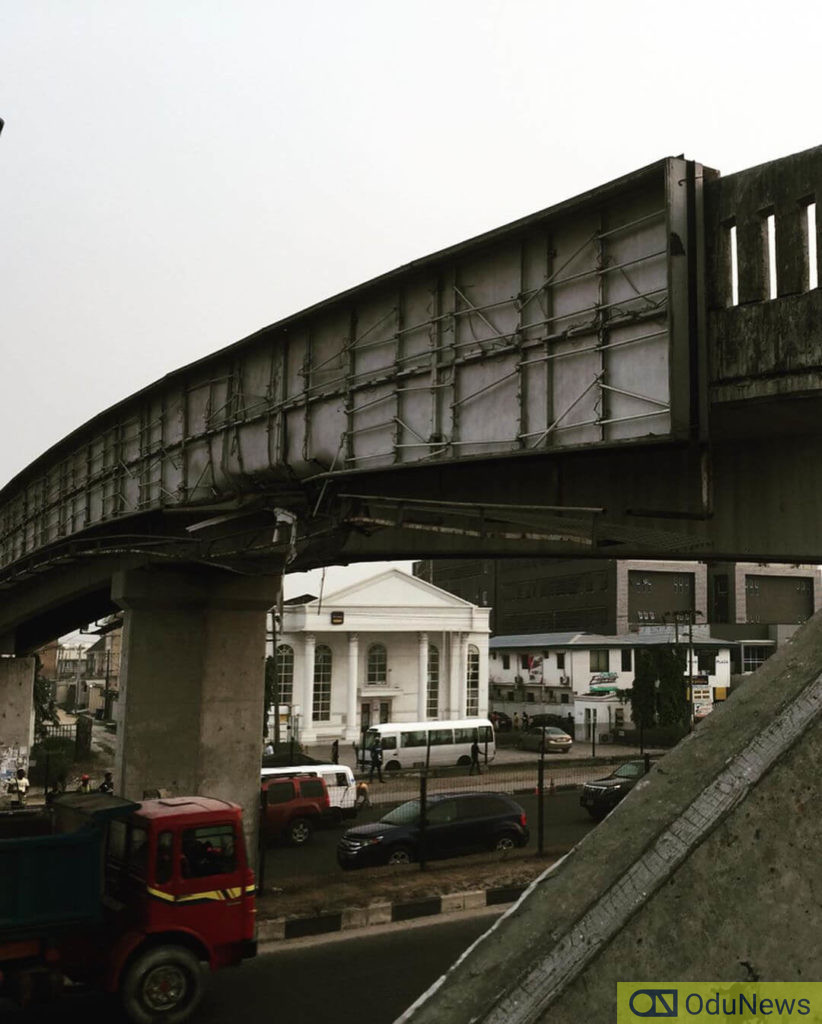 Bridge on the brink of collapse spotted in Lekki
