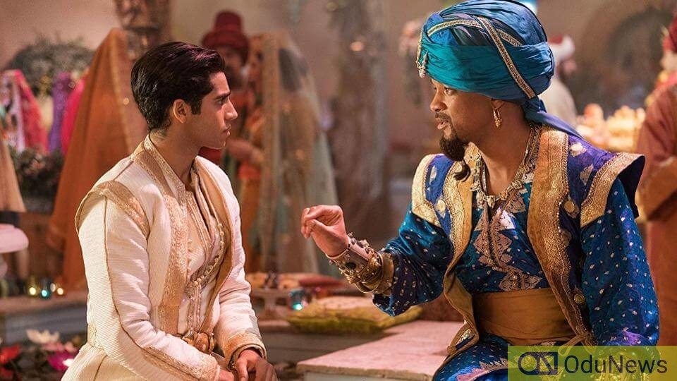 Massoud and Will Smith in ALADDIN