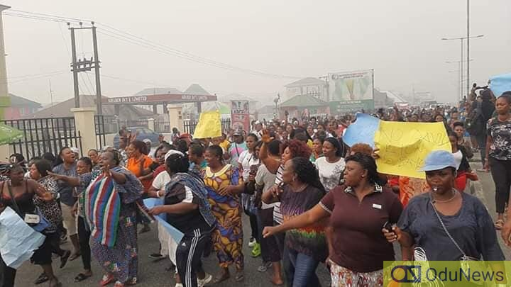 [PHOTOS] Bayelsa Women Protest Against Supreme Court Judgement