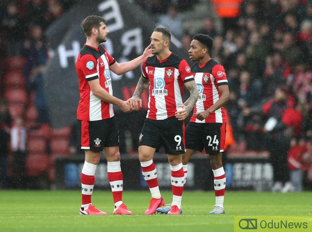 Danny Ings scores; Southampton vs Burnley