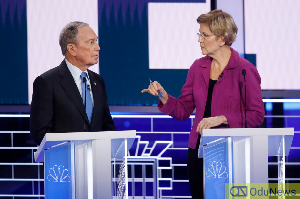 Elizabeth Warren opens Michael Bloomberg to ridicule at Democratic Debate in Nevada