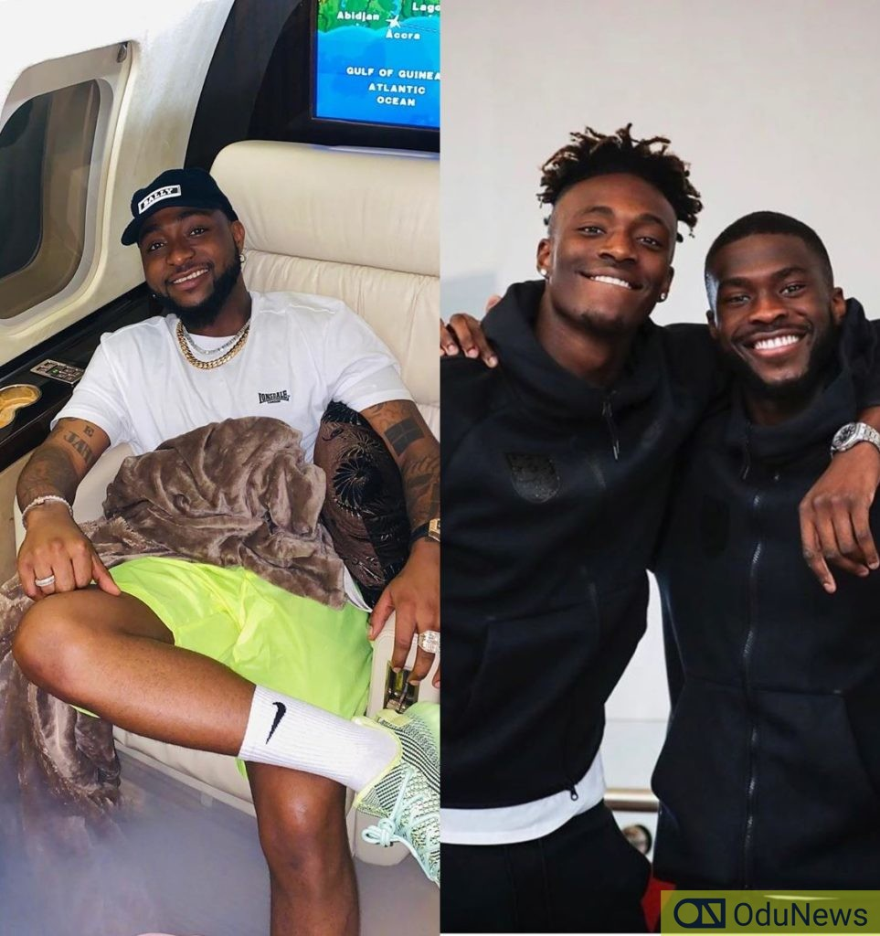 Davido Chills Out With Chelsea's Tammy Abraham & Fikayo Tomori [PHOTO]