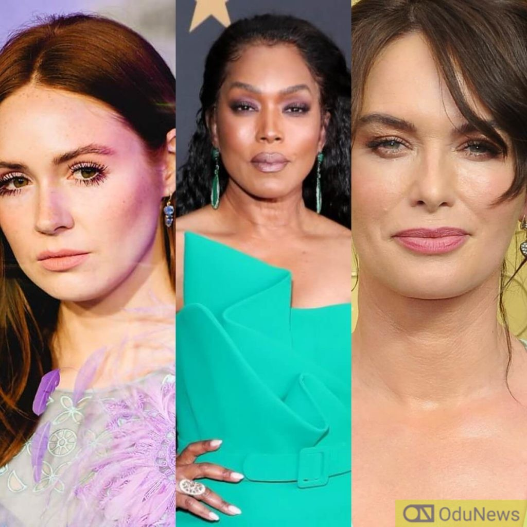 Karen Gillan, Angela Bassett, and Lena Headey starring in assassin movie Gunpowder Milkshake