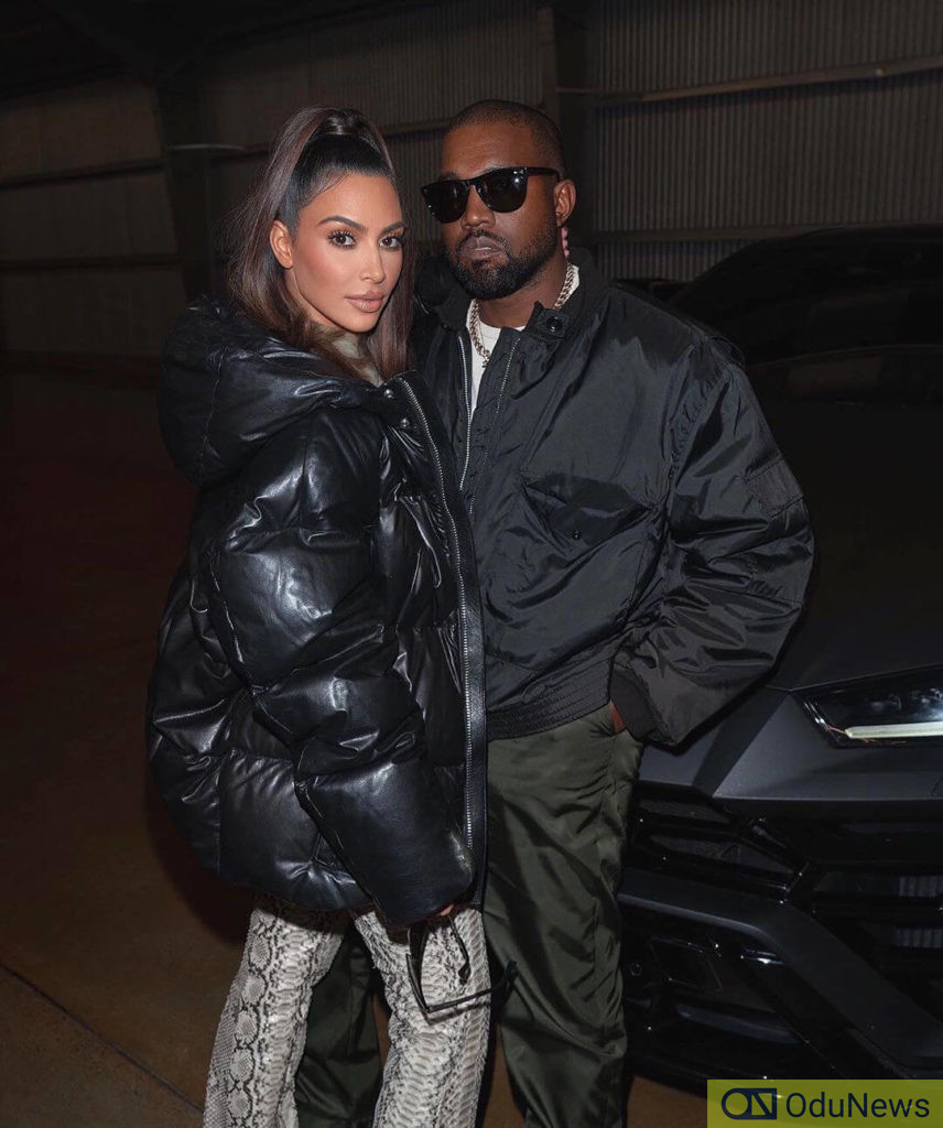 Kim Kardashian and Kanye West's looks to the 2020 Oscars