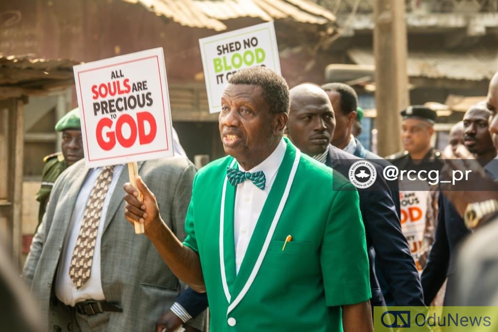 Pastor Adeboye leads protest against killings in Nigeria