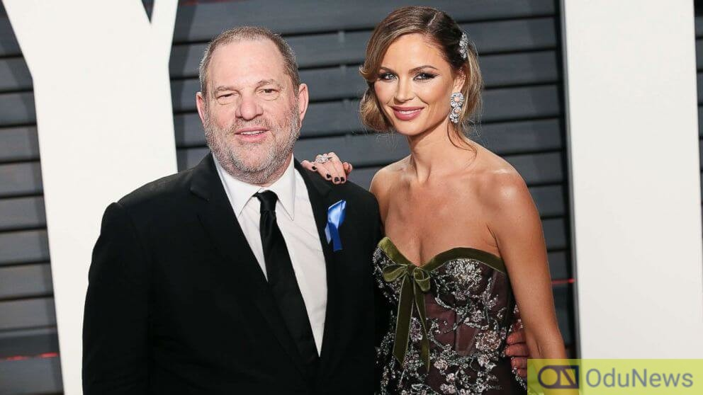 Harvey Weinstein with his ex-wife Georgina Chapman