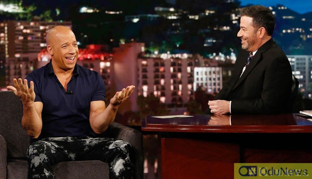 Vin Diesel and Jimmy Kimmel