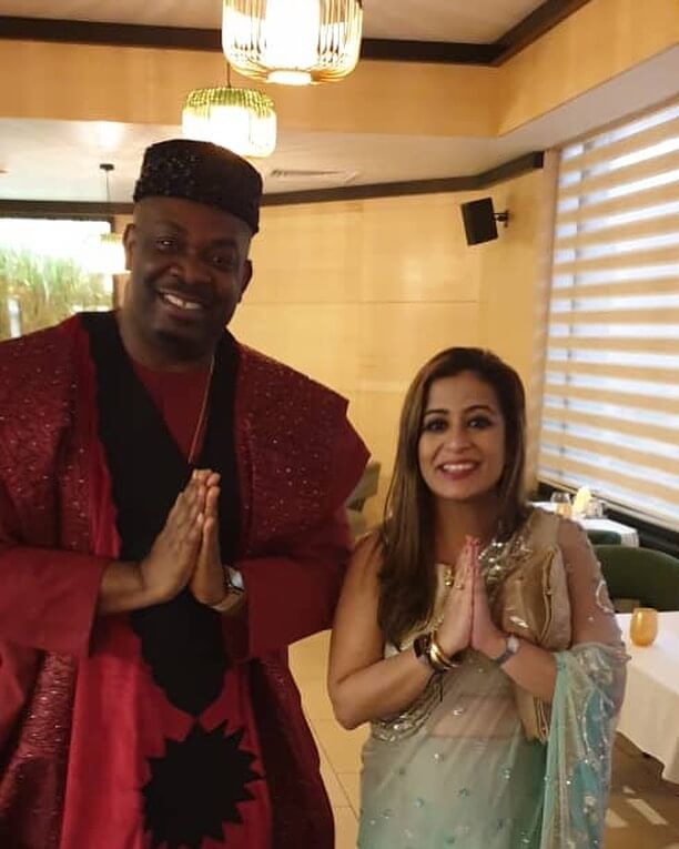 Director Hamisha Daryani Ahuja with Don Jazzy