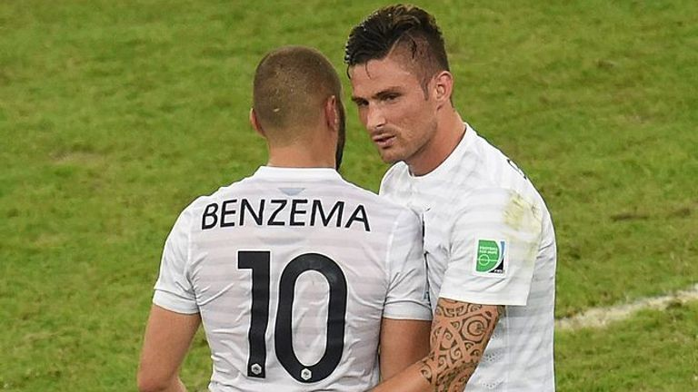 Benzema and Olivier Giroud