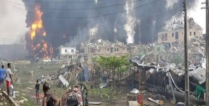 Gas Cylinders Hit By Truck Caused Abule Ado Explosion