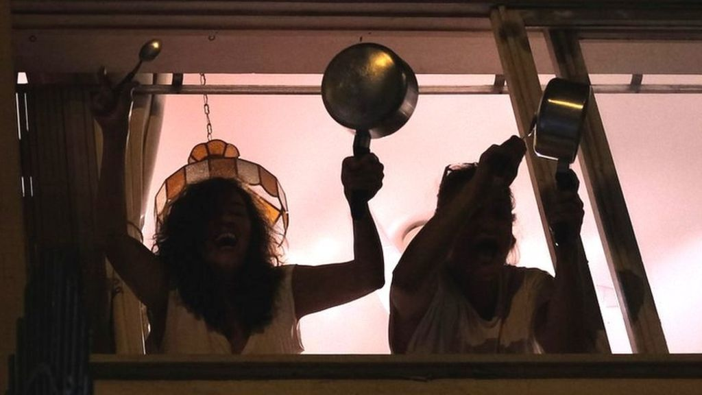 Brazilians Bang Pots From Balconies To Protest Against President's Handling Of Coronavirus [VIDEO]