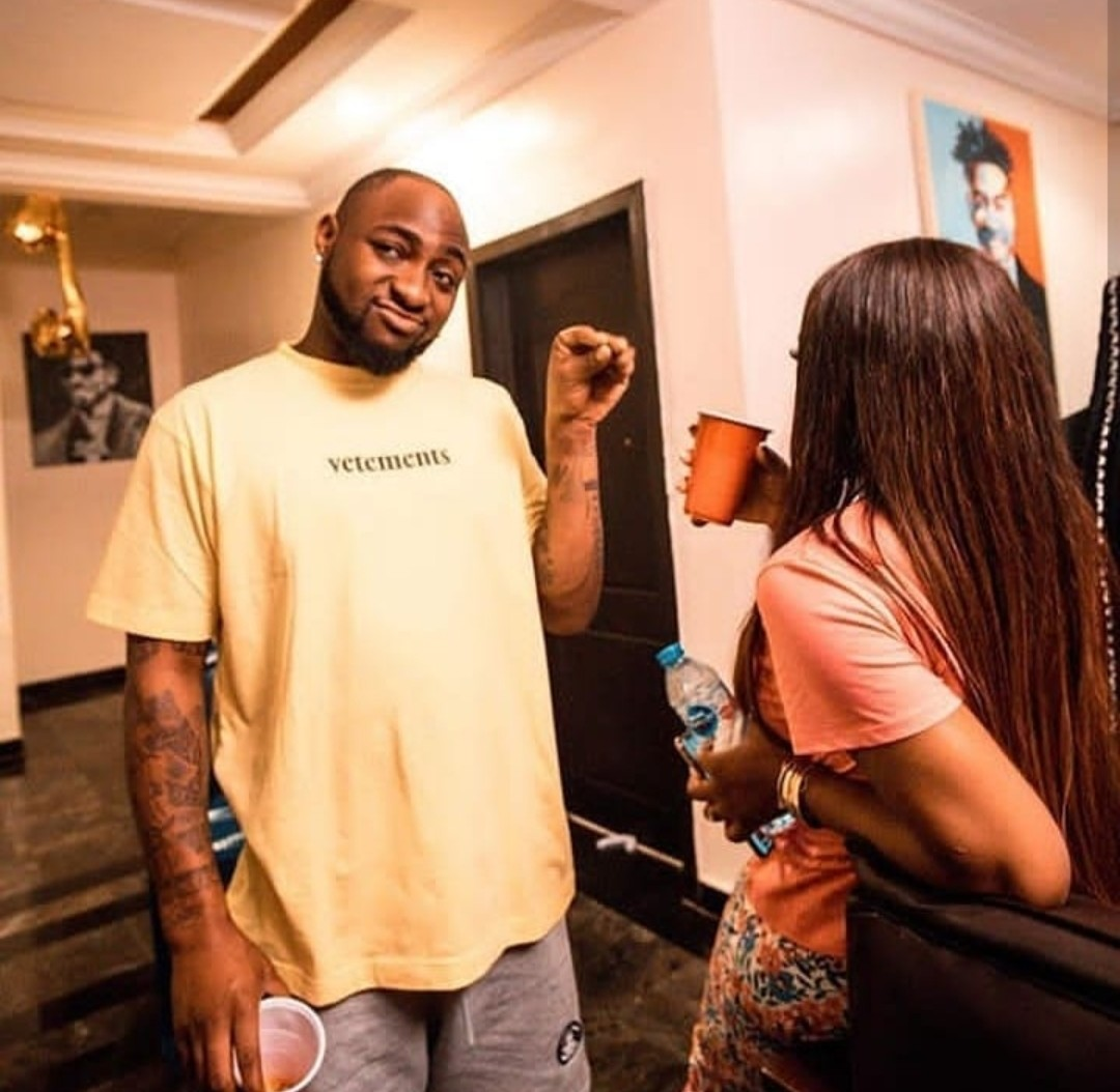 Davido's fiancee, Chioma tests positive for coronavirus shortly after returning from the UK