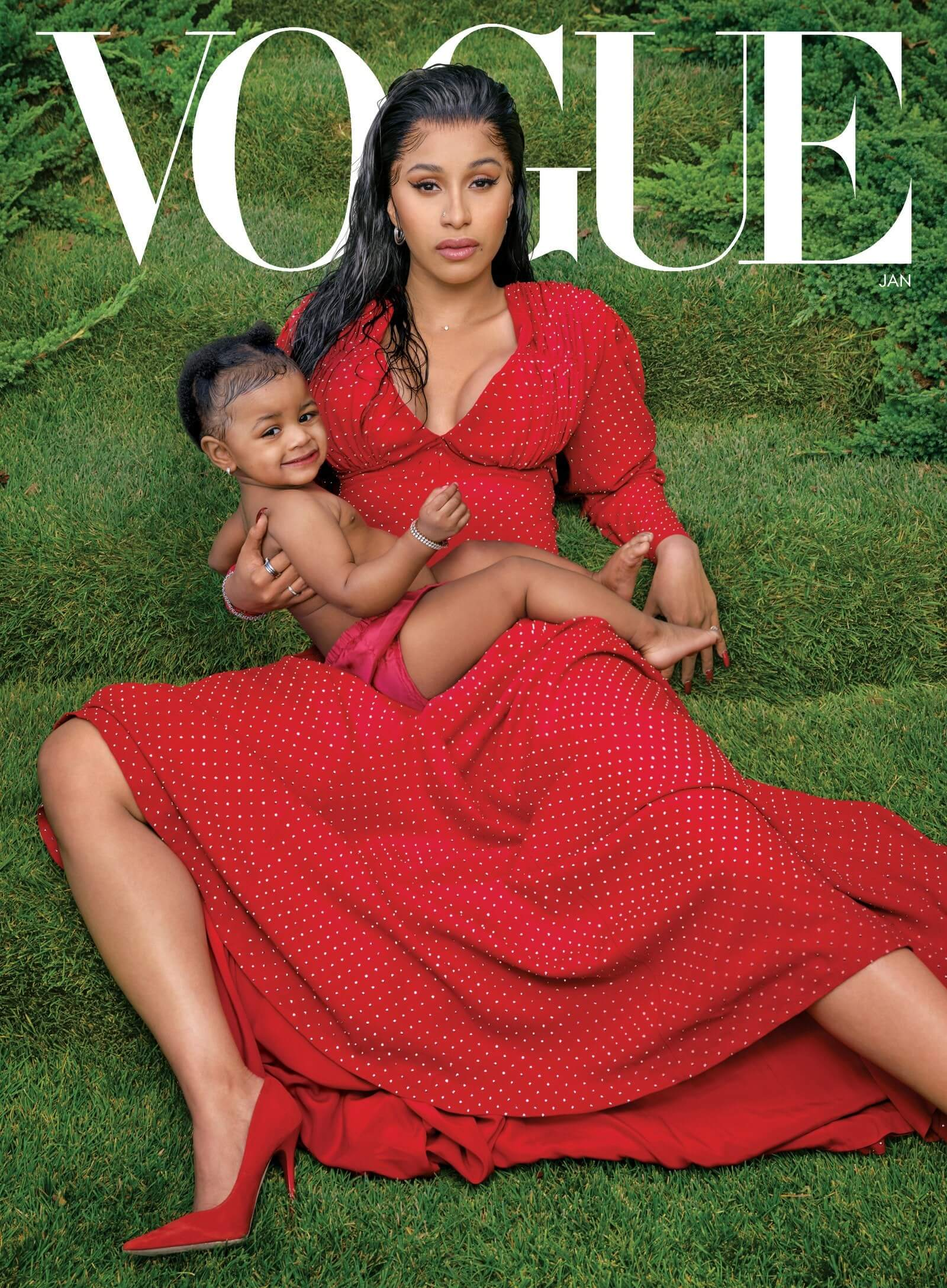Cardi B and her daughter Kulture cover VOGUE magazine