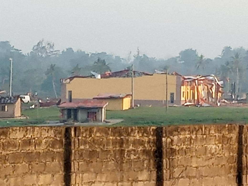 Wrecks after explosion in Akure, Ondo state