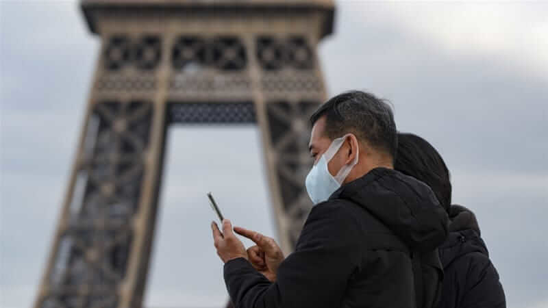 Most public places in France have been shut down due to the coronavirus pandemic