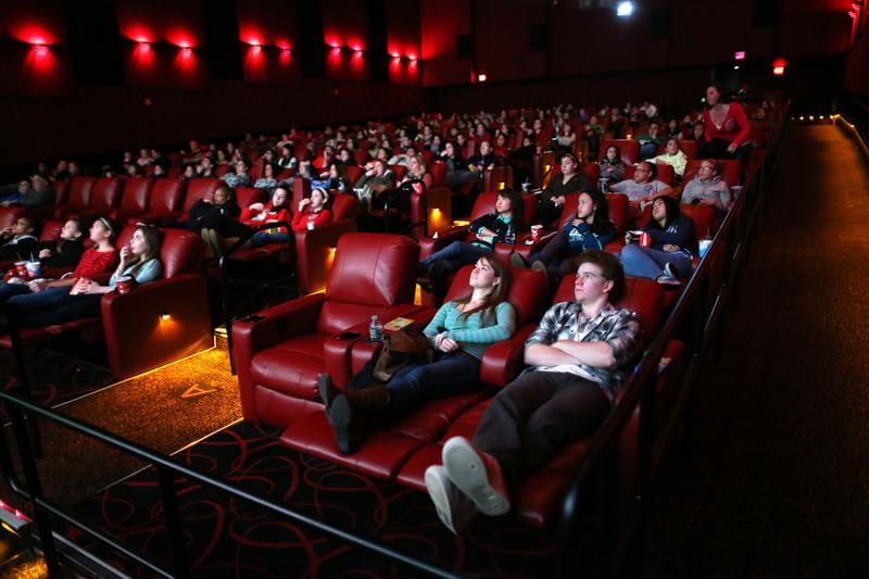 Movie fans at the theater