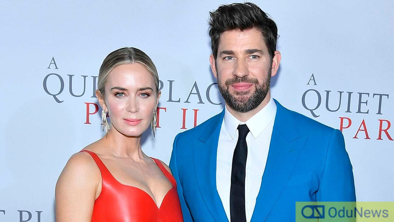 Actor and director John Krasinski is married to A QUIET PLACE II star Emily Blunt