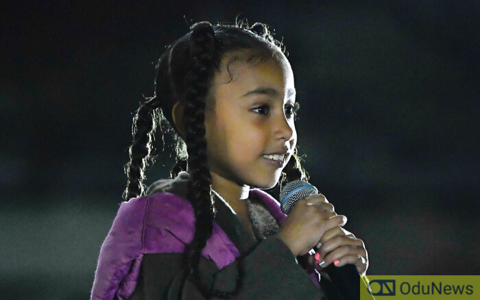 Kanye West's daughter North West gives rap performance at the Paris Fashion Week