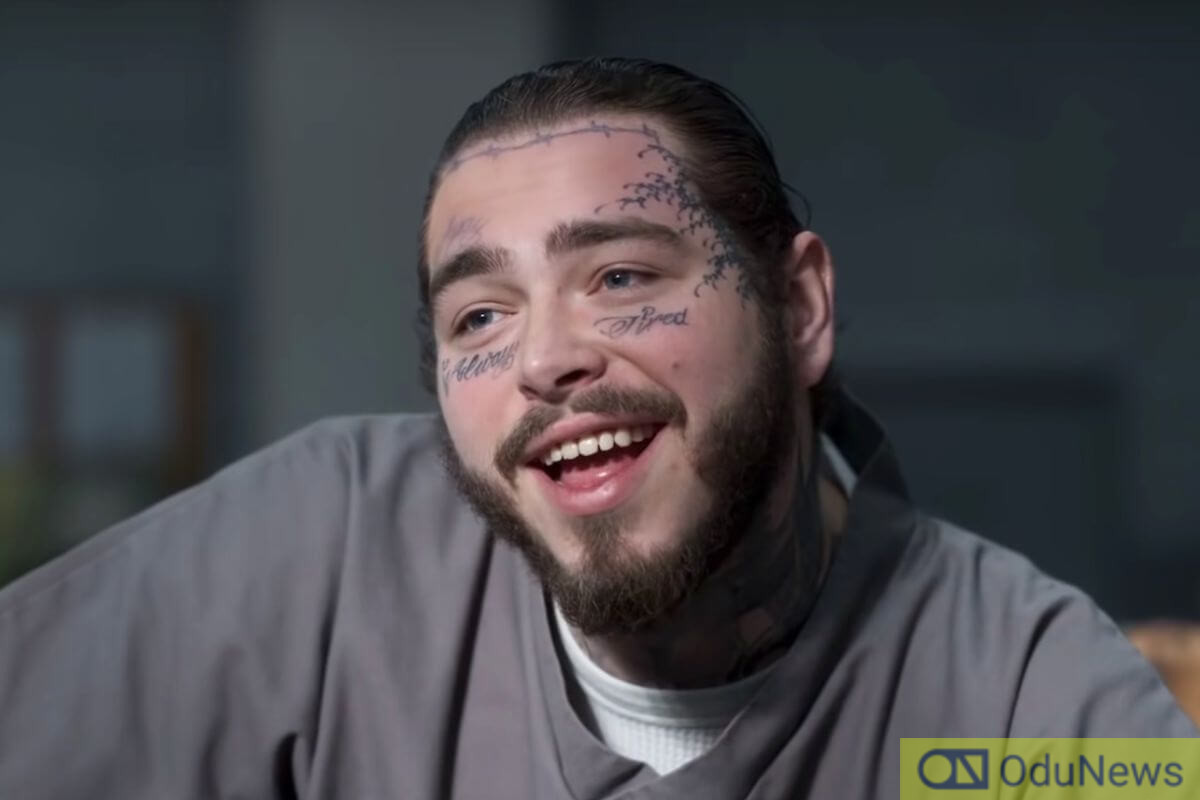 Even though he appears for a very limited time, singer and rapper Post Malone makes quite an impression