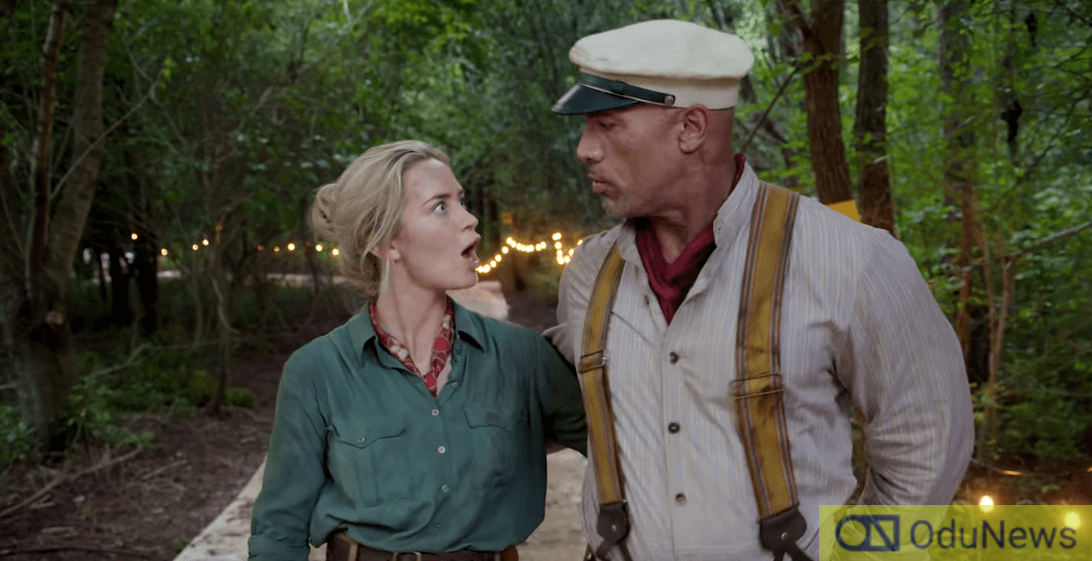Emily Blunt and Dwayne Johnson hilariously troll each other over the two new posters