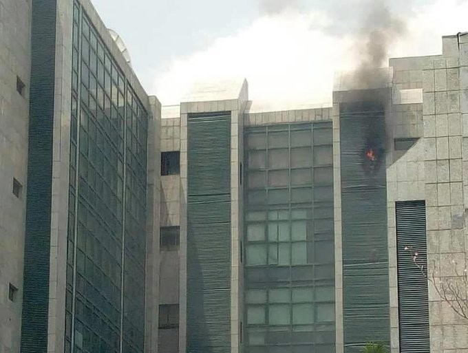 CAC Office in Abuja on fire