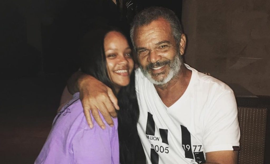 Rihanna and father Roland Fenty