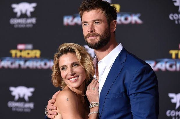 Hemsworth with wife Elsa Pataky