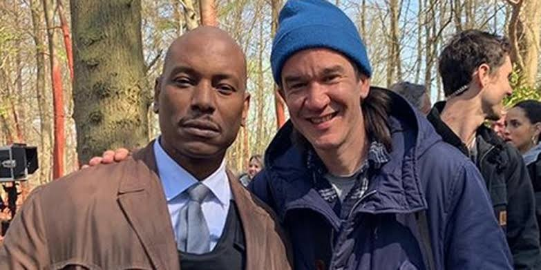Tyrese Gibson and company on the set of the film