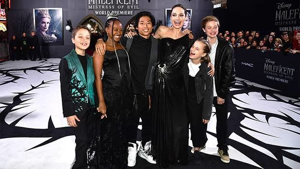Jolie and her kids