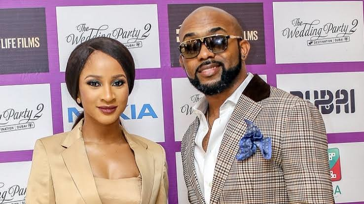 Banky W and his wife, actress Adesua Etomi-Wellington