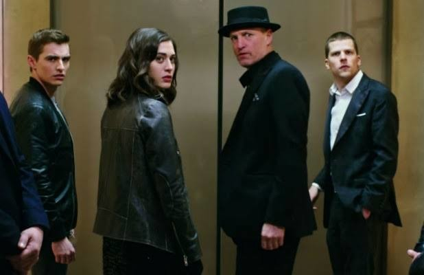 The Horsemen in a scene from NOW YOU SEE ME 2