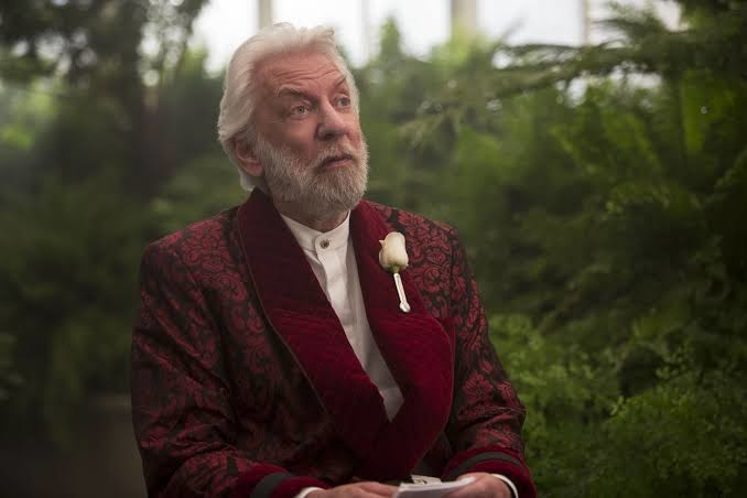 Donald Sutherland as Coriolanus Snow in THE HUNGER GAMES