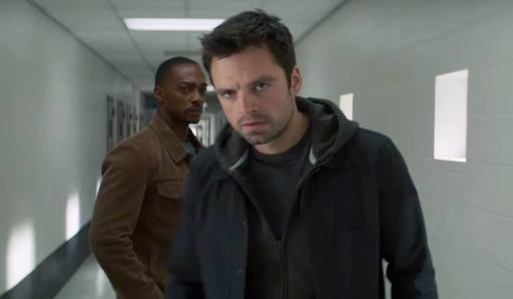 Sebastian Stan and Anthony Mackie in a scene from the series