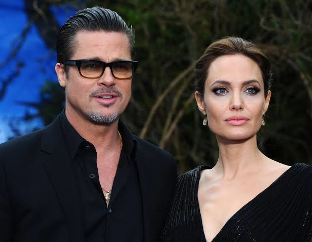 Jolie with ex-husband Brad Pitt