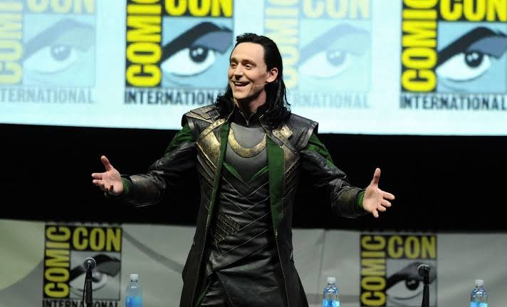 Actor Tom Hiddleston at the San Diego Comic Con