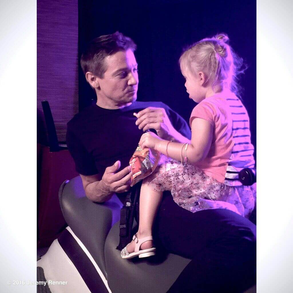 Renner and daughter Ava
