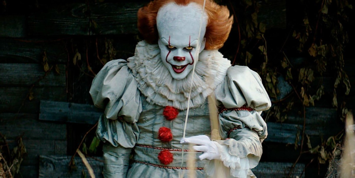 Skarsgard as Pennywise the evil clown in IT