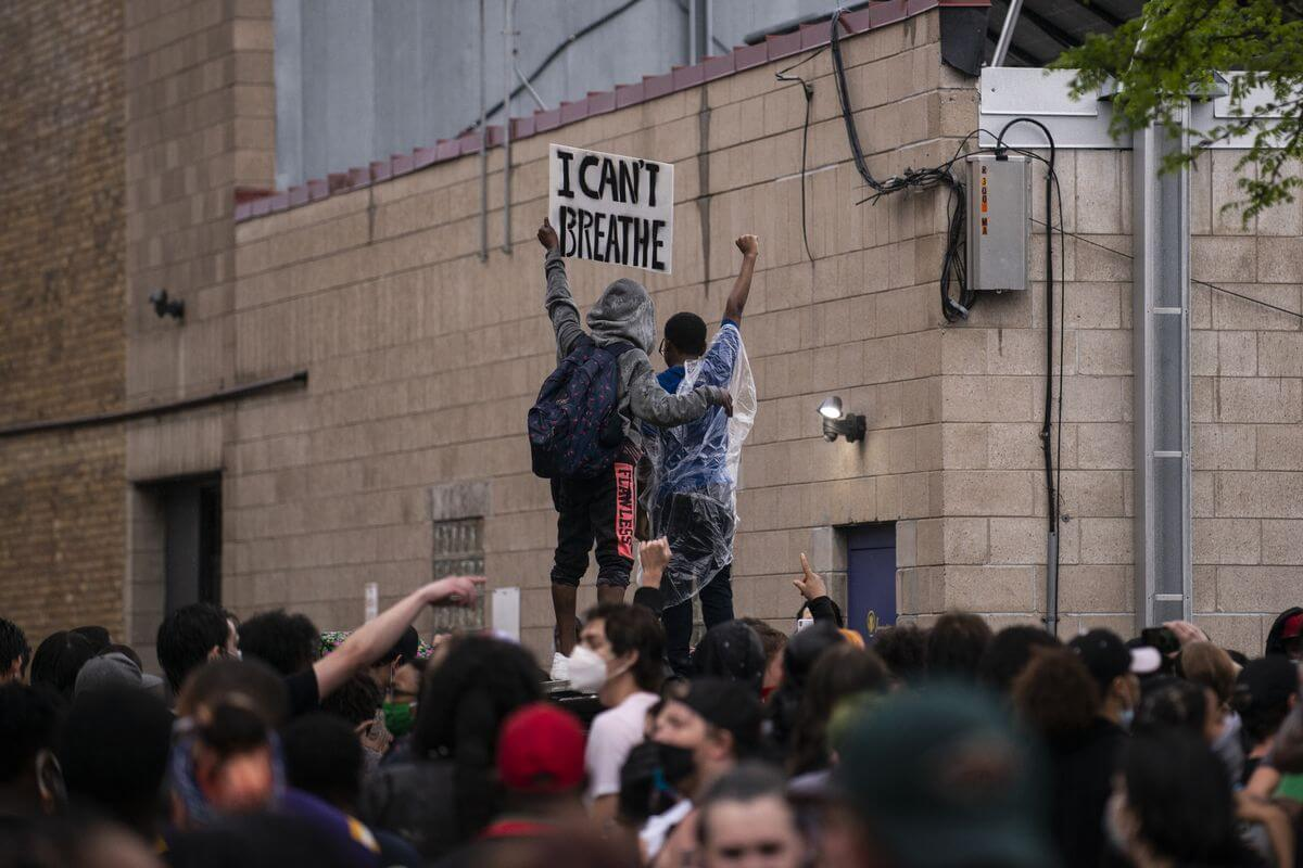 Protesters demonstrating over the killing of George Floyd/Photo Credit: Getty Images