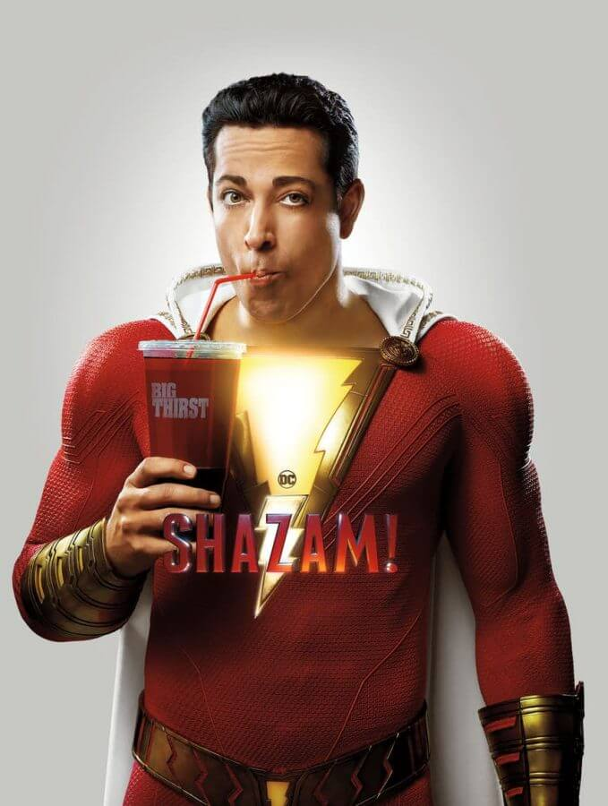 Levi as the titular hero in SHAZAM