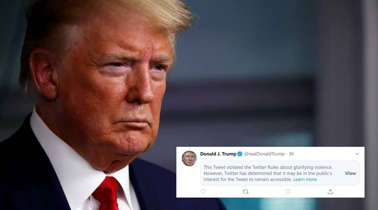 """Again, Twitter Flags Trump's Tweet For """"Glorifying Violence"""""""