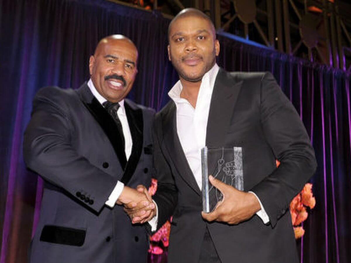 Steve Harvey and Tyler Perry are good friends