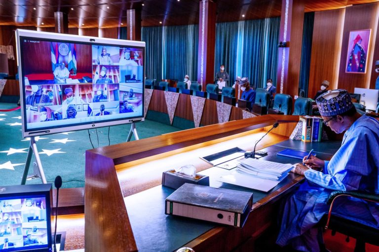 Buhari Swears In 12 Permanent Secretary As 13th Virtual FEC Meeting Holds