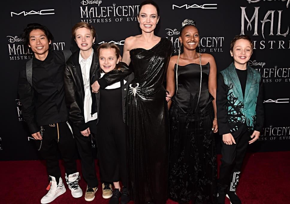 Angelina Jolie and her kids/Image Credit: Getty Images