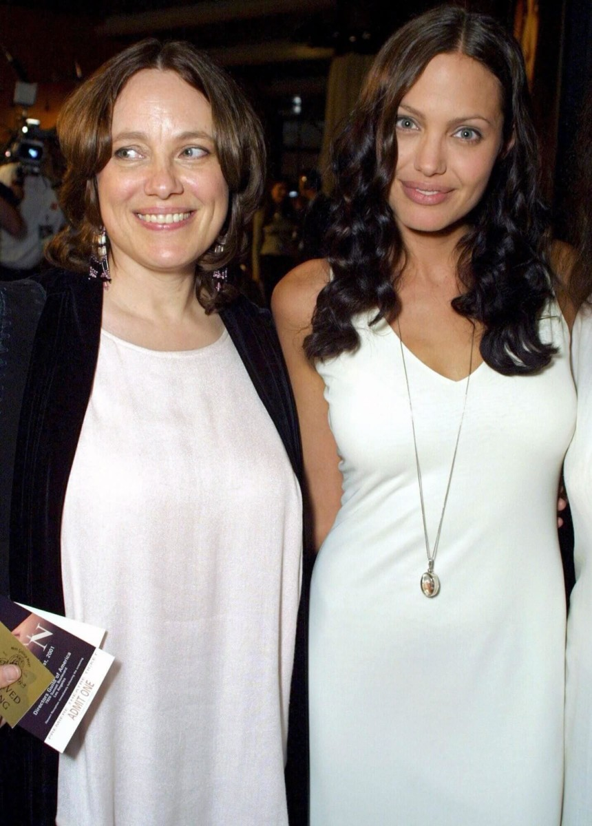 The late Marcheline Bertrand and her daughter Angelina Jolie