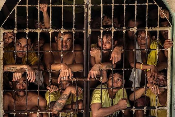 An overcrowded prison